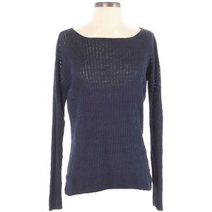 J Crew Womens Sweater Linen Pullover Cable